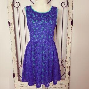 L'Amour purple lace dress large